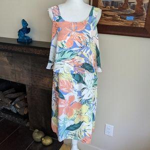NEW Christopher & Banks Lg Tropical Floral Dress